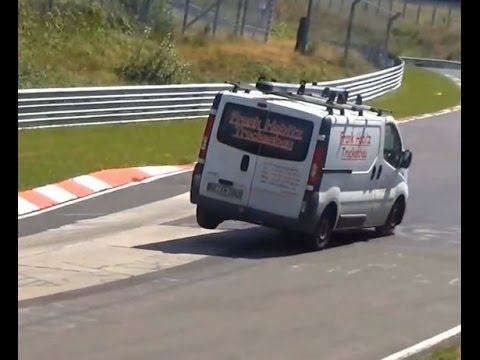 Best Jumping Cars on Nordschleife ACTION, 3 Wheel Driving, CRASH, Compilation