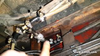 Редукционный клапан на выходе топливного насоса для увеличения  ресурса топливного фильтра