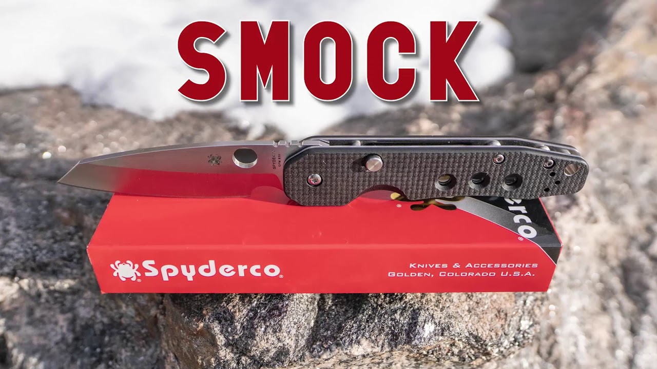 Spyderco C240CFP Smock Carbon Fiber/ G-10 Laminate 3 45