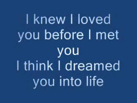 I Knew I Loved You (lyrics)