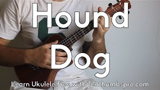 Hound Dog by Elvis Presley. A really easy beginner song except that...