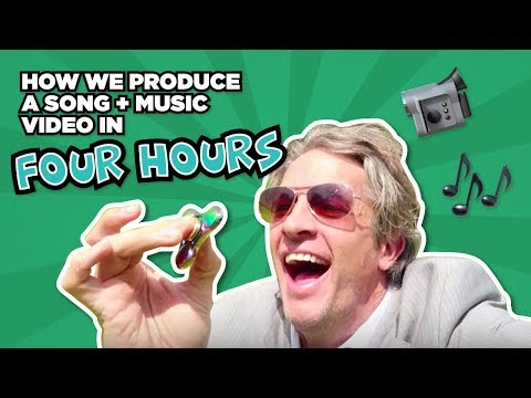 How we produce a song and music video in FOUR HOURS // FIDGET SPINNER LOVE SONG