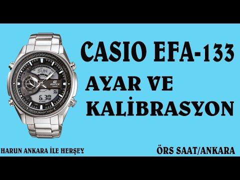 31b8b322fbc5 CASIO EFA-133 AYAR VE KALİBRASYON - YouTube