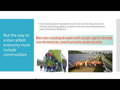 The Power of Community: Economic impacts of community-owned renewable energy in Ontario