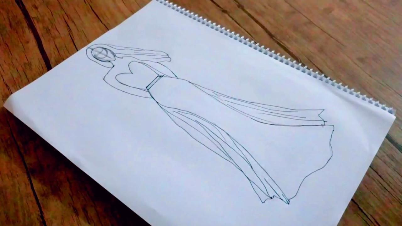 37d02e15cb97a Çok Kolay Balık Elbise Çizimi - YouTube