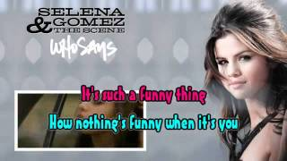 selena gomez who says karaoke lyrics
