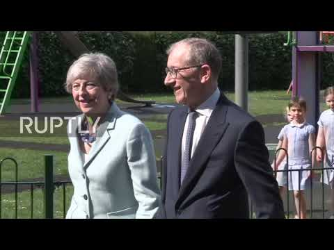 UK: May casts her ballot as voting in European elections gets underway