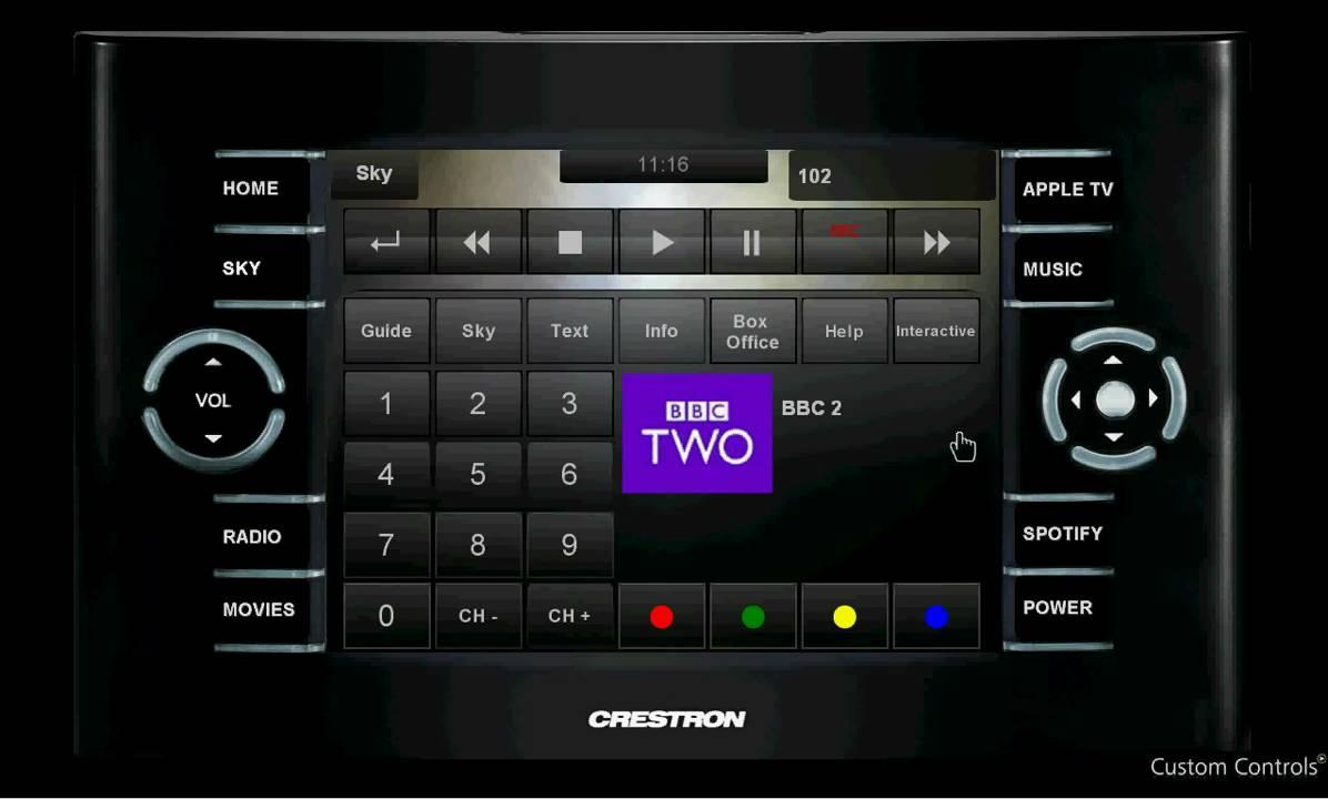 Diagram Crestron Touchpanel Gui