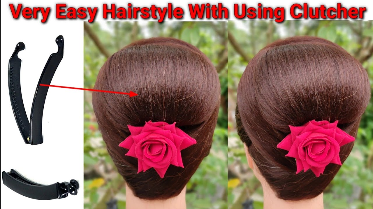 summer juda hairstyle with using banana clutcher || easy hairstyle || hair style girl || new bun ||