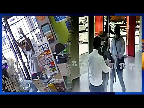 Robber Epically Failed then Begs for Mercy! Cop takes out attacker ECW style