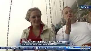 Media Day Reverse POV of SkyScreamer at Six Flags New England ABC40 News