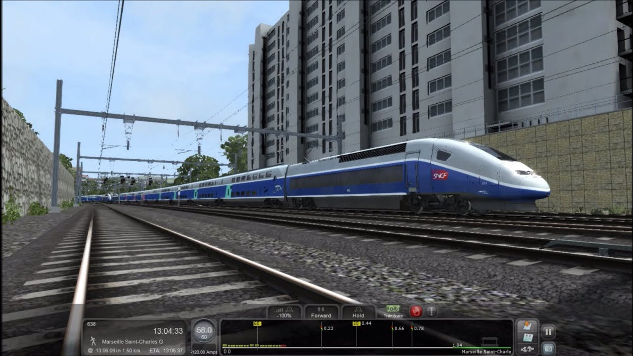 train simulator 2016 hd ligne grande vitesse marseille avignon tgv duplex career scenario 7. Black Bedroom Furniture Sets. Home Design Ideas