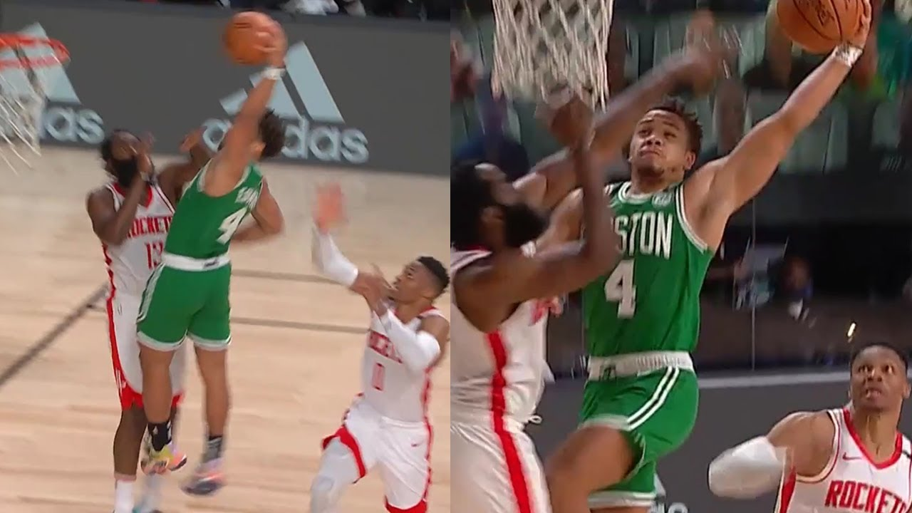 James Harden didn't know Carsen Edwards could dunk either