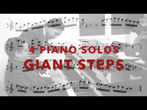 4 Giant Steps Piano Solos  J. Lorber, M. Miller, K. Kirkland, T. Flanagan