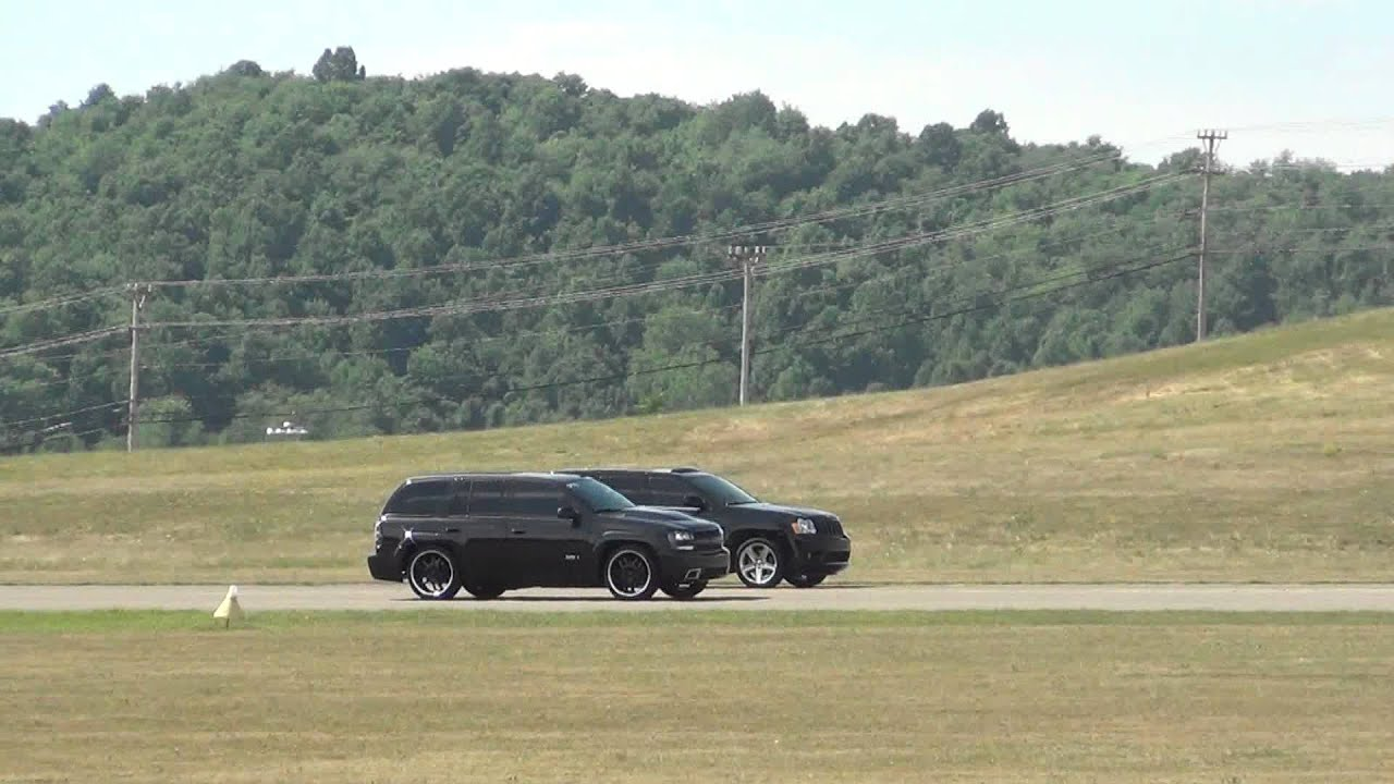 Trailblazer SS Vs Jeep SRT8  YouTube