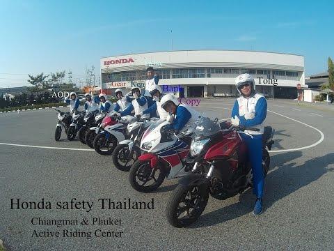 การขี่รถจักรยานยนต์เป็นเลข 8 By Honda Safety Thailand ขับขี่ปลอดภัย