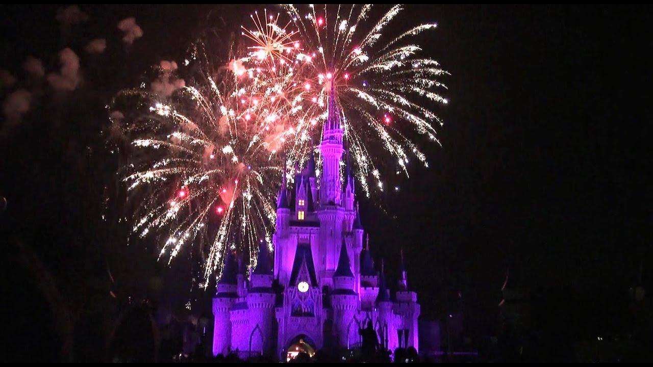 Disney Wishes Fireworks 2017 Magic Kingdom Youtube