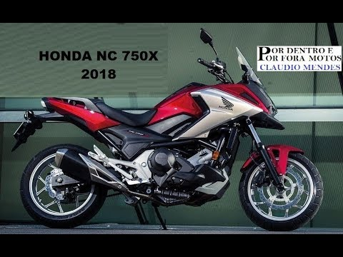 honda nc 750x 2018 com muitos detalhes youtube. Black Bedroom Furniture Sets. Home Design Ideas