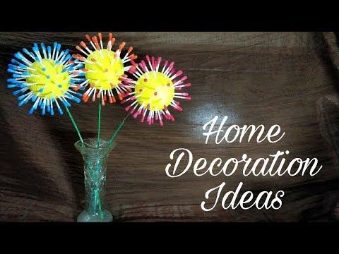Cotton Ear Bud Flowers Easy to make Home Decor Flower
