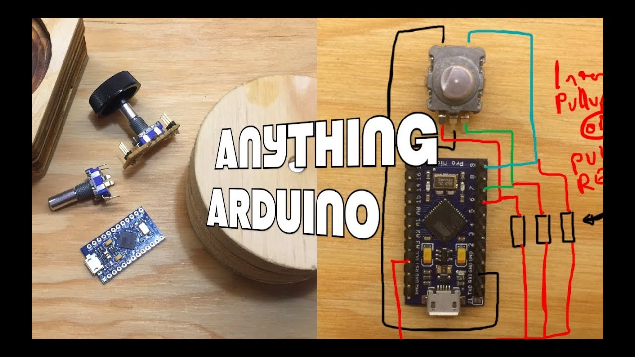 a rotary encoder as a multimedia controller anything arduino youtube. Black Bedroom Furniture Sets. Home Design Ideas