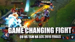 Game Changing TEAMFIGHT (Doublelift INSANE Lucian Culling) - TSM vs C9 NA LCS 2016 FINALS