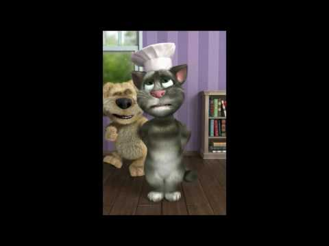 TALKING TOM CAT SINGING HAPPY BIRTHDAY BEN THE DOG FARTS