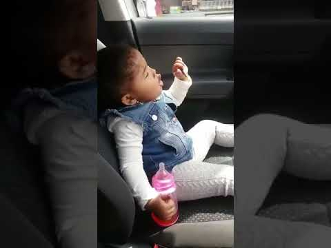 Cute baby singing Versace by Bruno mars