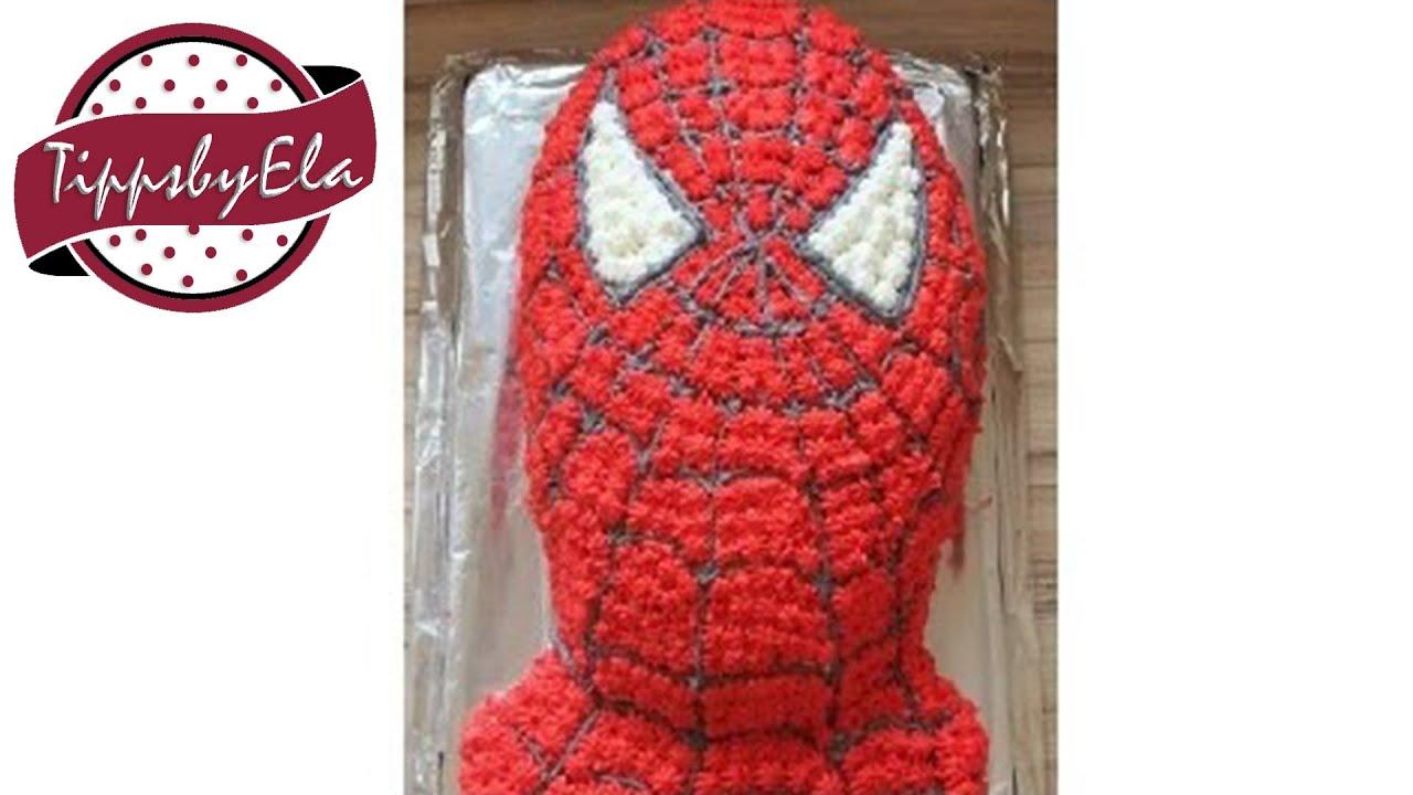 Spiderman Sahne Torte Selber Machen Anleitung Auf Deutsch Youtube
