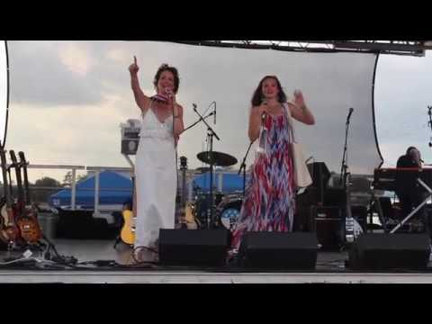 Founder & CoChair Janine Turner & Executive Director Juliette Turner  Tomball, TX July 4th!