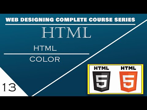 Html Color Tag Full Video Tutorial in Hindi | Urdu | English on Part#13 By KKz thumbnail