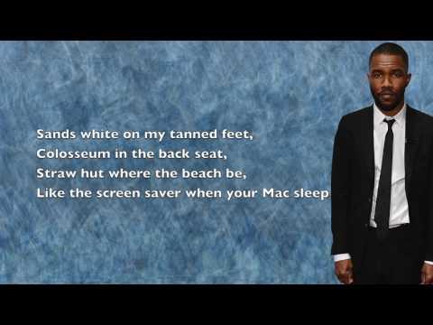 Frank Ocean - Blue Whale - Lyrics