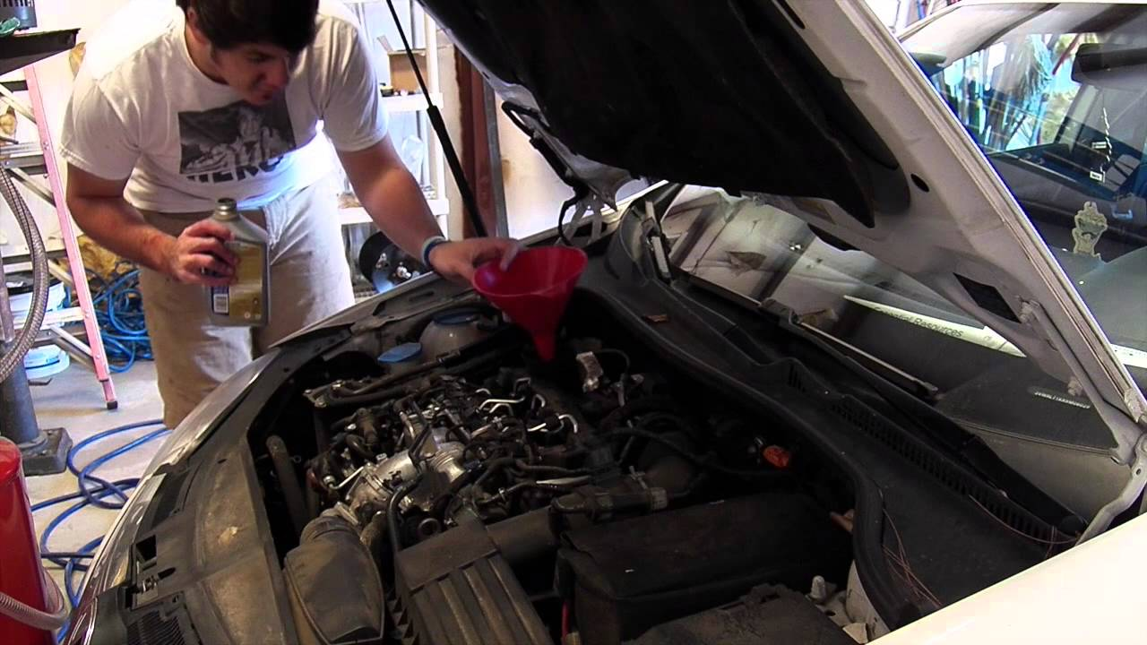 how to change oil in a 2008 2014 volkswagen vw jetta tdi 2. Black Bedroom Furniture Sets. Home Design Ideas