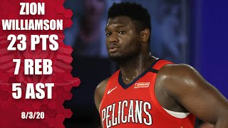 Zion Williamson highlights: 23 points in 25 minutes vs. Grizzlies | 2019-20 NBA Highlights
