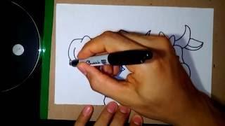 How to Draw a Cow - Como Dibujar una Vaca 35