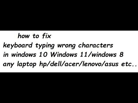 Keyboard Type Wrong Characters Youtube