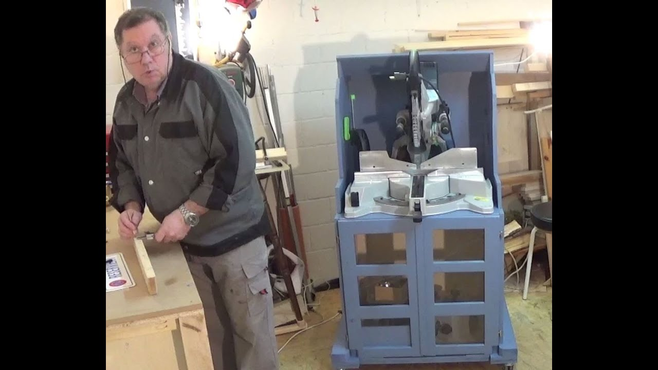 Meuble pour scies onglet radiales youtube - Fabriquer meuble wc ...