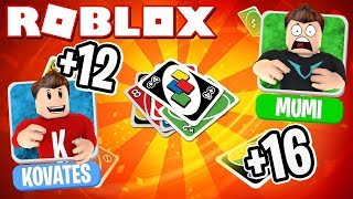 WE PLAY UNO IN ROBLOX! | English Roblox: UNO