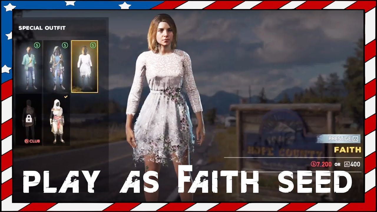 Far Cry 5 Faith Seed Player Outfit Youtube