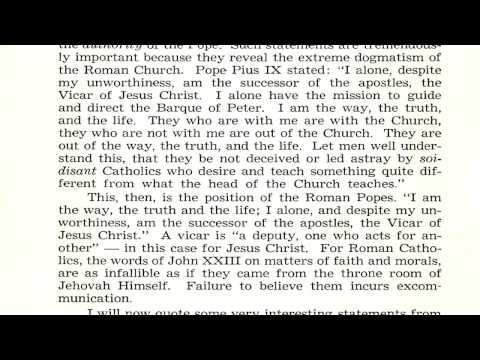 """The Roman Catholic Church in History"" by Walter Martin: 1. Pope Peter? 2. Catholic Tradition"