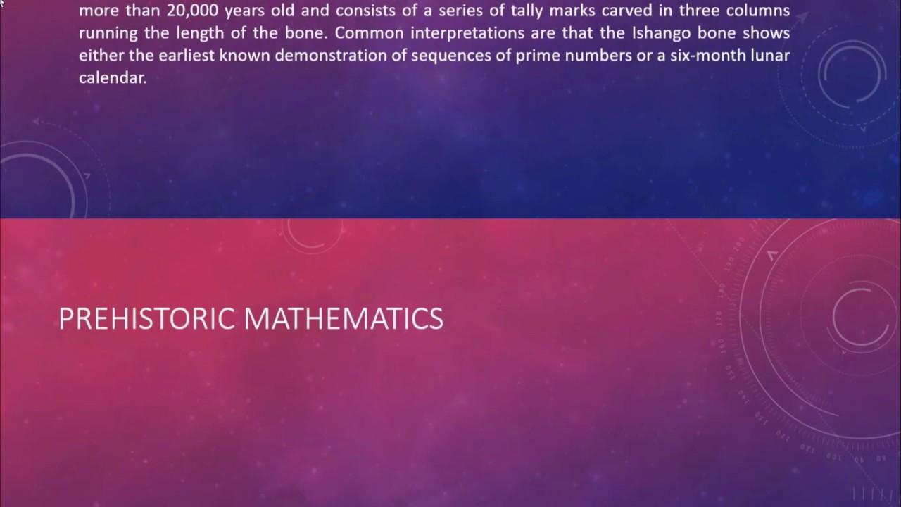 Prehistoric Mathematics Youtube