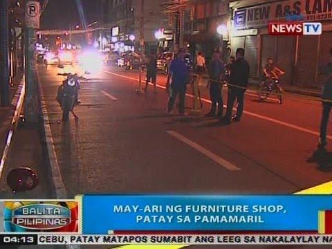 BP: May-ari ng furniture shop, patay sa pamamaril sa Pasay