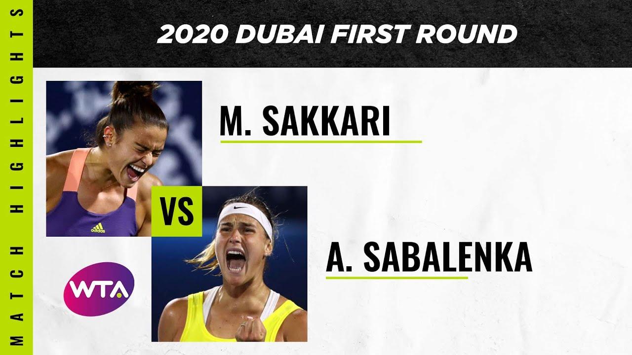 Maria Sakkari vs. Aryna Sabalenka | 2020 Dubai First Round | WTA Highlights