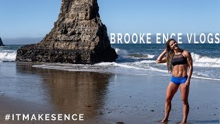 BROOKE ENCE VLOGS | Beach Workout, Poison Oak, and A Sandy Puppy