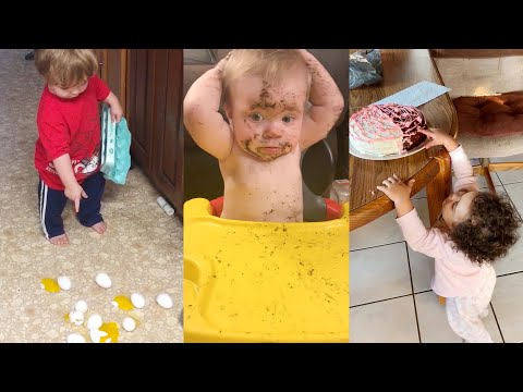Naughty Babys Funniest Moments 2  Funny Baby Video