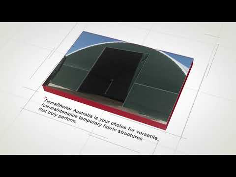 Durable Temporary Shelter Structures by DomeShelter Australia