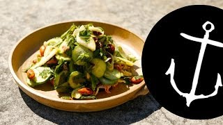 How To Make Cucumber And Almond Salad Bondi Harvest