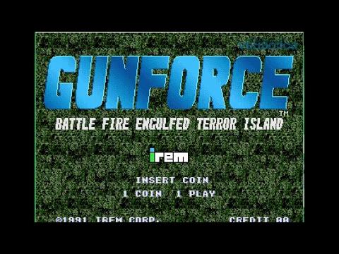 GunForce Battle Fire Enculfed Terror Island 1991 Irem Corp Games Jugando Juegos Arcades Gaming