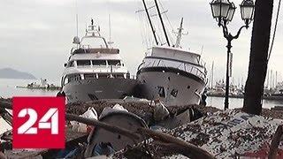 Кадры из фильма ужасов: ветер вырывал итальянские рестораны из фундамента - Россия 24
