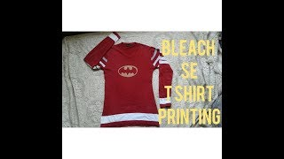 T shirt bleach  printing design in hindi