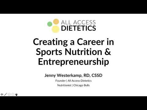 Creating a Career in Sports Nutrition + Entrepreneurship